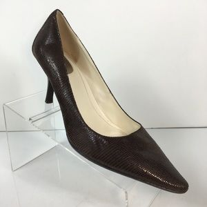Calvin Klein Dolly Brown Leather Pumps Size 10